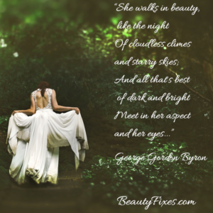 Poetry of beauty fixes