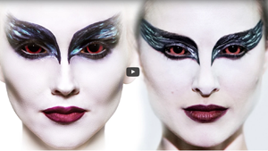 Black Swan Ballerina Makeup Tutorial