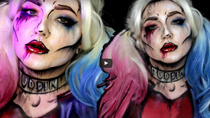 Halloween Harley Quinn Suicide Squad Inspired Makeup