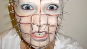Pinhead Movie Inspired Halloween Makeup Tutorial