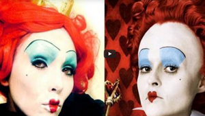 Queen of Hearts Alice in Wonderland Halloween Makeup Tutorial