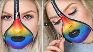 Rainbow Zipper Eyeliner Tutorial
