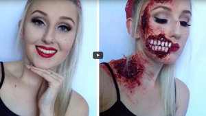 Pinup Zombie Halloween Makeup Tutorial