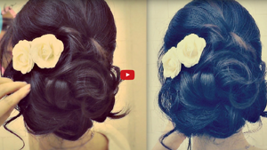 ★ Easy Wedding Updo with Curls | Prom Hairstyles Hair Tutorial