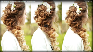 Easy Cascading Curls Hairstyle | Prom Hairstyles | Braidsandstyles12