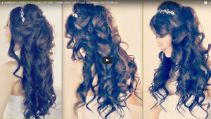 ROMANTIC HAIRSTYLES | HALF-UP HALF DOWN UPDO FOR PROM WEDDING HAIR TUTORIAL|