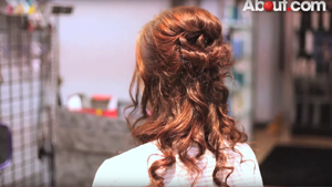 Medium Length Half Down, Half Up Hairstyle for Prom Video – About.com
