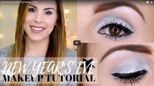 Easy Silver New Year's Eve Makeup Tutorial